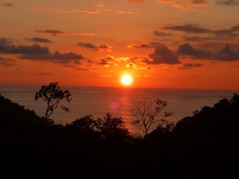Sunset from hostel balcony